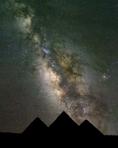 Starry Sky Over The Pyramids
