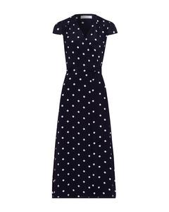 Midi Polka Dot Wrap Dress