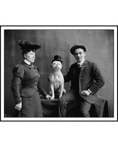 Mr. And Mrs. Frank Kern And Trained Dog Bobbie 1900