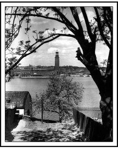 Utsikt Från Kattgränd På Söder I Stockholm
