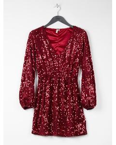 Perfect Velvet Sequins Dress Red