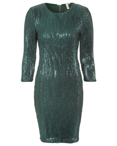 Sequin Power Dress Green
