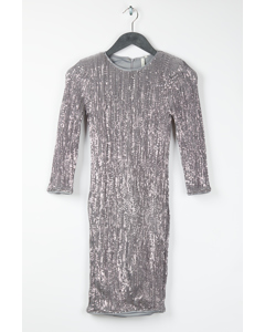Sequin Power Dress Silver