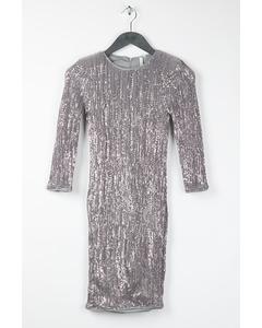 Sequin Power Dress Silver