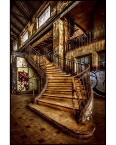 Beautiful Stairway In Old Factory