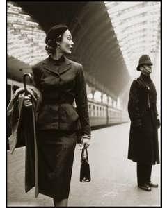 Fashion Model In Victoria Station.1952