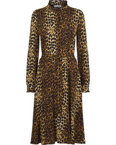 Elinor Dress Brown Leo Aop