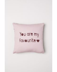 Text Cushion Cover 40x40 Pink