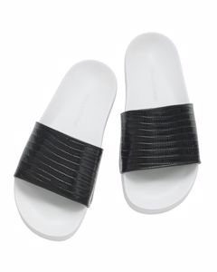 Leather Slipper In Black