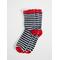 Stripe Kids Socks 3-pack Red Navy L Grey
