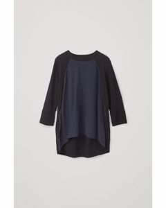 A-line Knit Top Black / Deep Navy