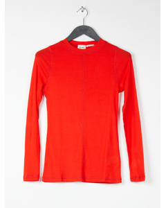 Womens Sheer Ls T-shirt Red