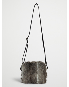 Faux Fur Crossbody Bag Black Spring Deer