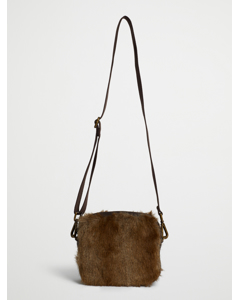 Faux Fur Crossbody Bag Brown Spring Deer