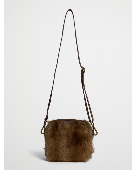 Ceannis Faux Fur Crossbody Bag Brown Spring Deer