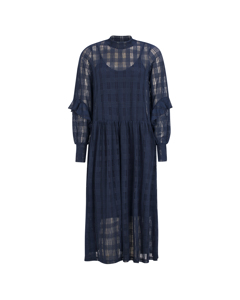 Pam Ruffel Dress 217 Night Sky