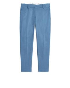 Chino aus Baumwollstretch Blau