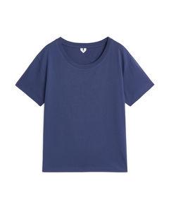 Round-neck T-shirt Blue