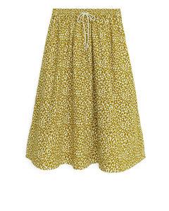 Printed Cotton Skirt Ochre