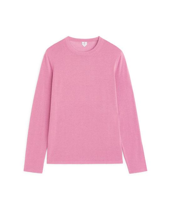 Arket Fine-knit Jumper Pink