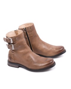 Coney W Leather Shoe Lt Brown Buffal