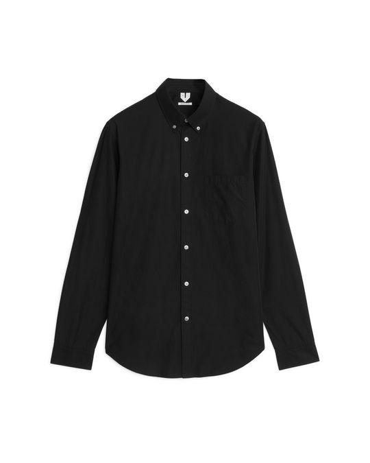 Arket Shirt 3 Poplin Black
