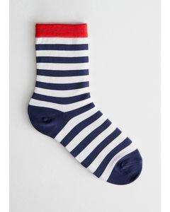 Micheline Knöchel Socken Blau