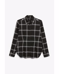 Tailored Shirt Black And White Check