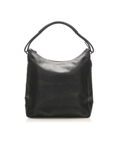 Gucci Leather Shoulder Bag Black