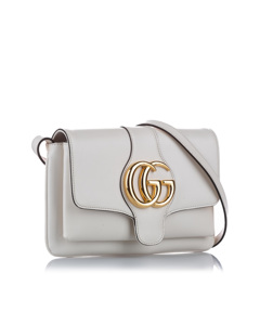 Gucci Arli Leather Crossbody Bag White