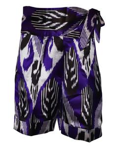 Violet Highrise Silk Shorts