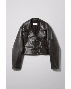 Daria Pu Biker Jacket Black