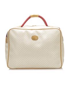 Gucci Microguccissima Coated Canvas Travel Bag Brown