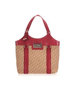 Dior Dior Oblique Canvas Tote Bag Brown