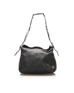 Fendi Selleria Leather Shoulder Bag Black