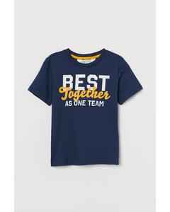 T-shirt Med Tryck Mörkblå/best Together