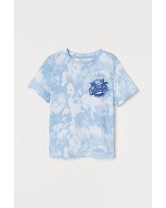 T-Shirt mit Druck Hellblau/California