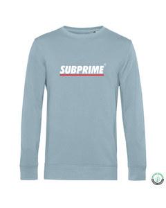 Subprime Sweater Stripe Sky Blue Blauw