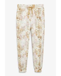 Acid Wash Print Sweatpants Gold Acid Wash Print