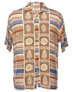 1990s Floral Short Sleeved Shirt