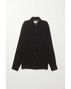 Ellis Velour Shirt Black