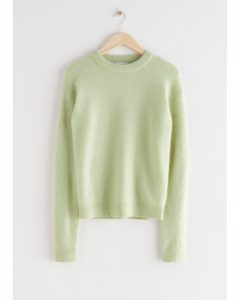 Relaxed Knit Jumper Yellow