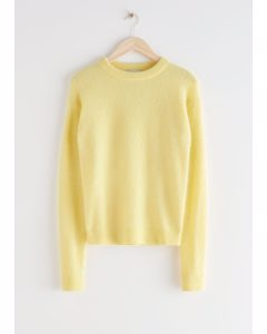 Relaxed Knit Jumper Light Yellow