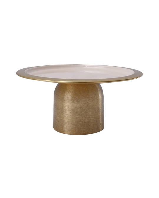 360Living Cake Platter Art Deco 325 Gold / Powder Pink