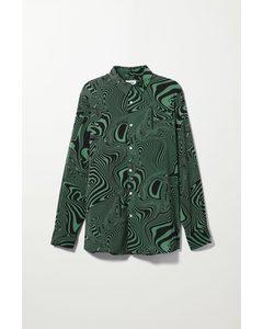 Marc Distorted Shirt Green & Black