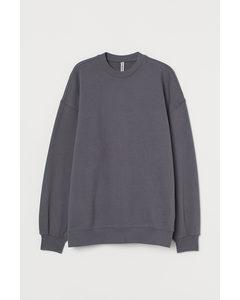 Oversized Sweatshirt Mörkgrå