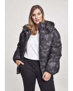 Damen Ladies Boyfriend Camo Puffer Jacket