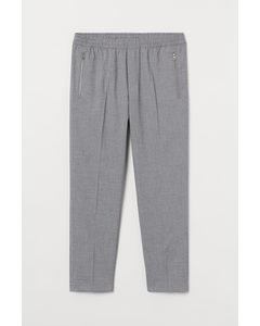 Cropped Joggpants Regular Fit Hellgraumeliert