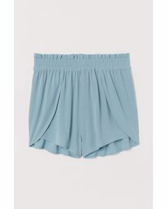 Paper Bag-shorts Ljus Turkos