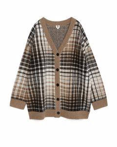Oversized Wool Cardigan Beige/brown